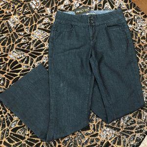 Paige Wide leg Jeans Dark Wash